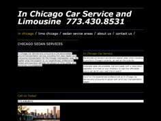 In Chicago Car Service
